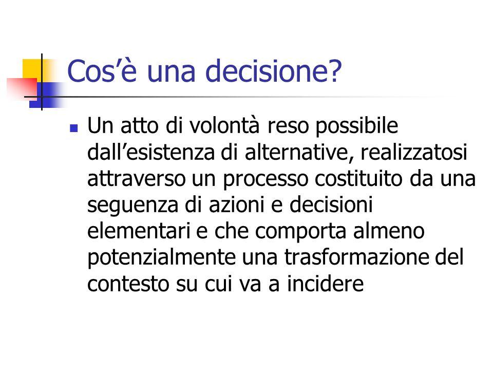 Cos'è una decisione