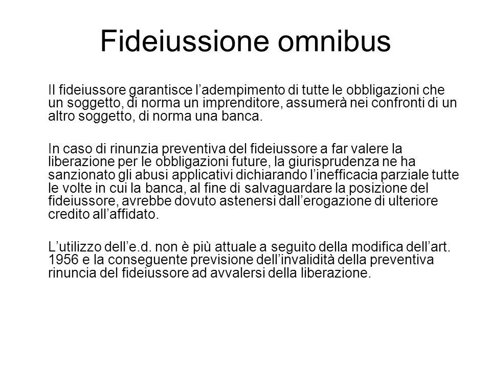 Fideiussione omnibus
