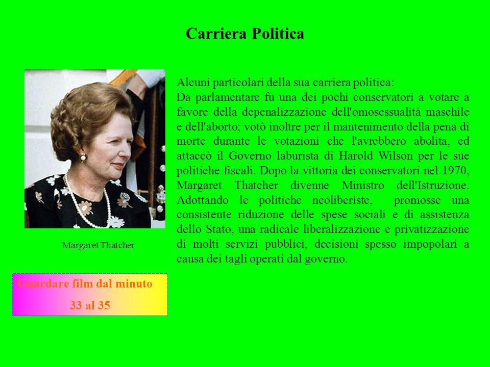 Carriera Politica Alcuni particolari della sua carriera politica: