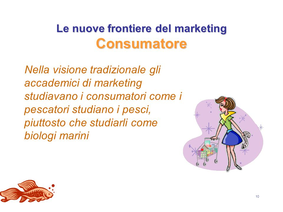 Le nuove frontiere del marketing Consumatore