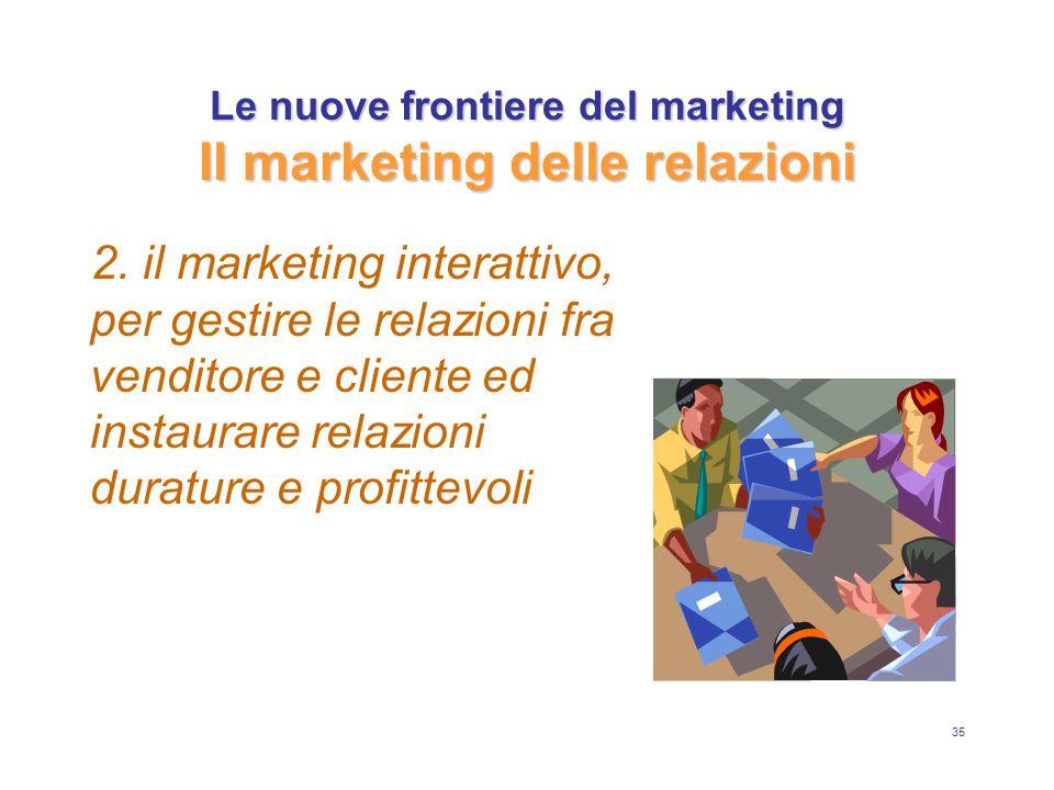 Le nuove frontiere del marketing Il marketing delle relazioni