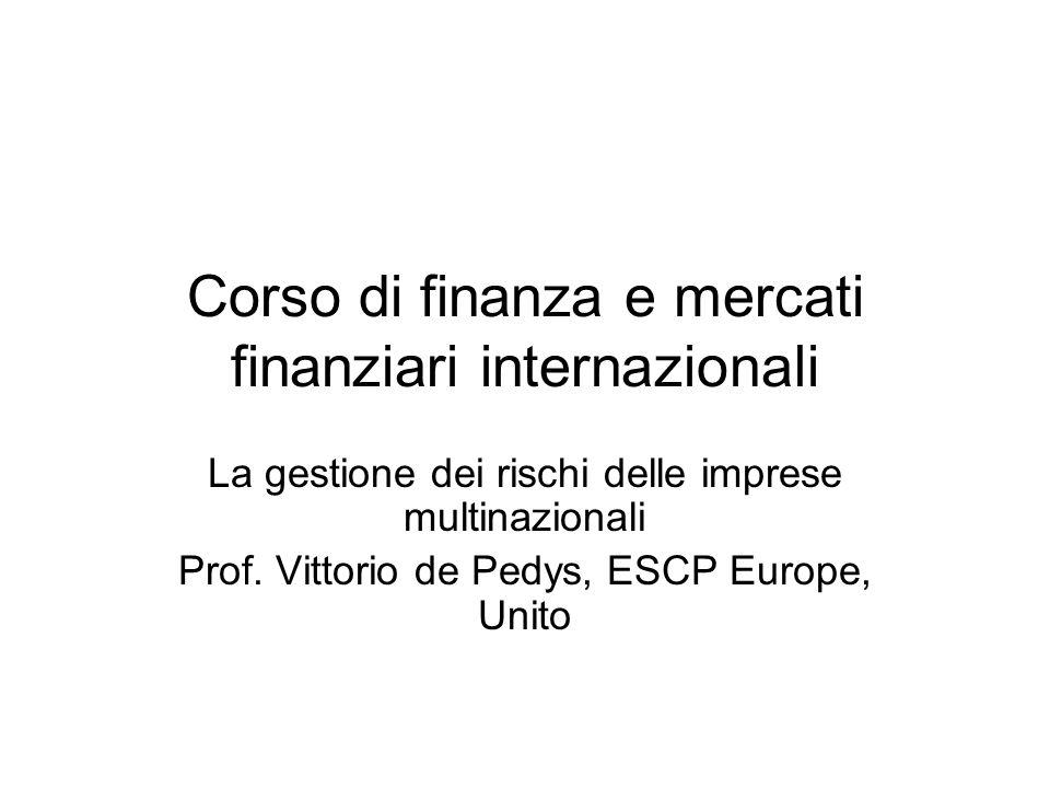 Corso di finanza e mercati finanziari internazionali