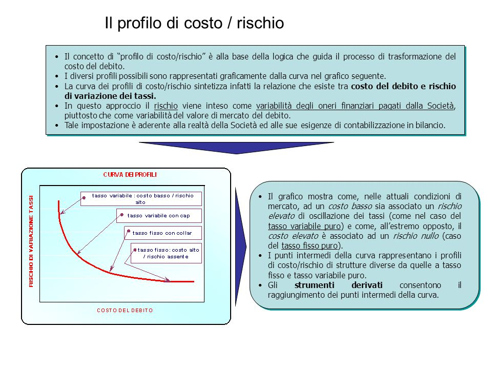 Il profilo di costo / rischio