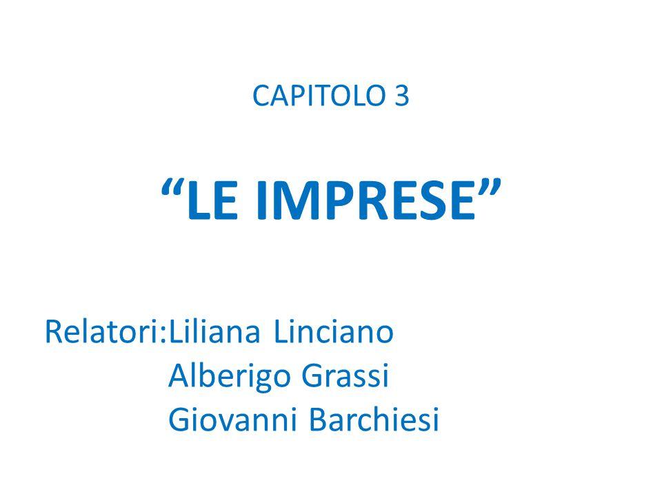 LE IMPRESE Relatori:Liliana Linciano Alberigo Grassi