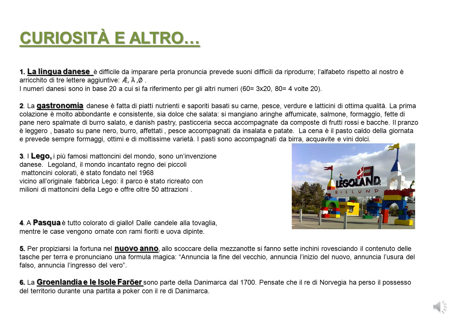 CURIOSITÀ E ALTRO… 1.