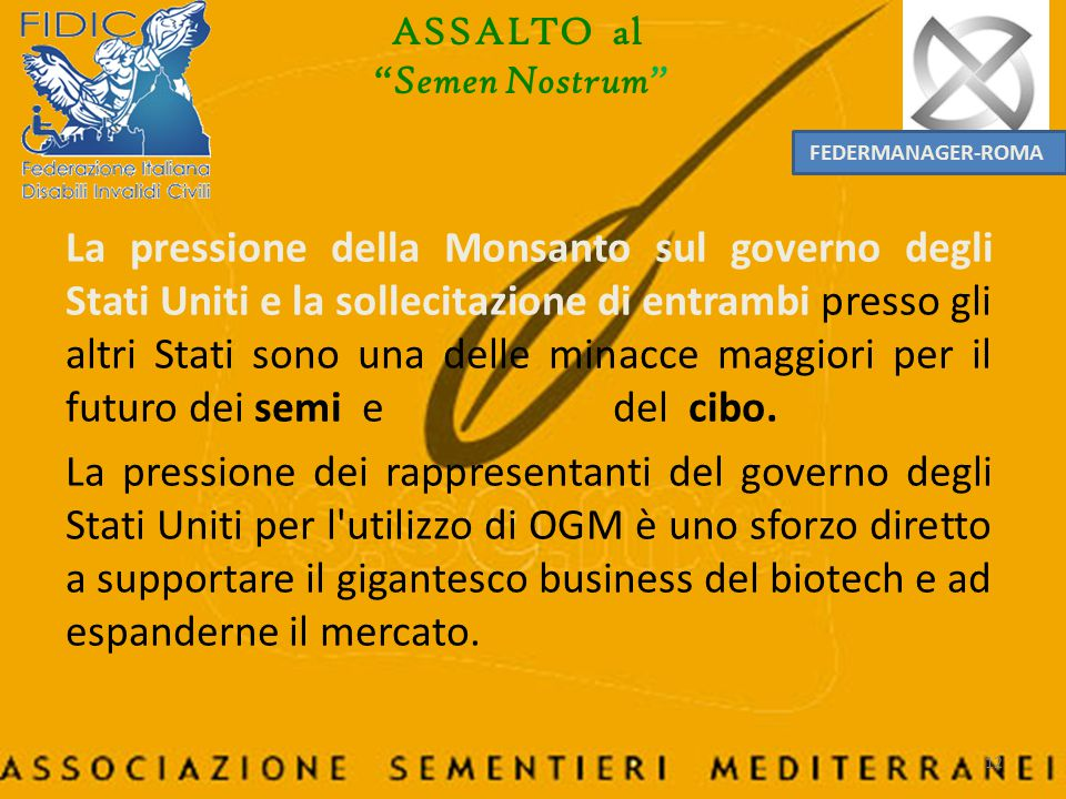ASSALTO al Semen Nostrum FEDERMANAGER-ROMA.