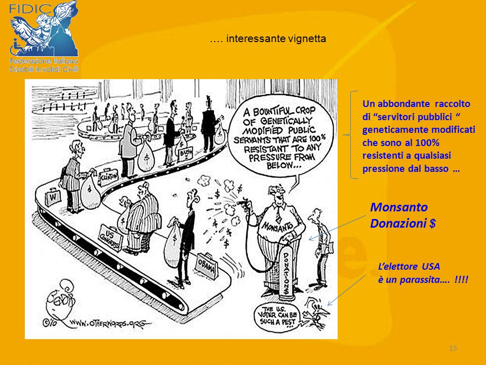 Monsanto Donazioni $ …. interessante vignetta