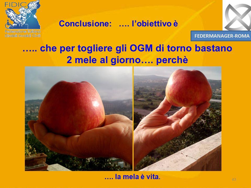 ….. che per togliere gli OGM di torno bastano