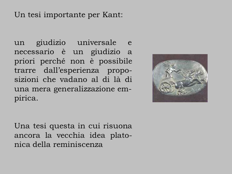 Un tesi importante per Kant: