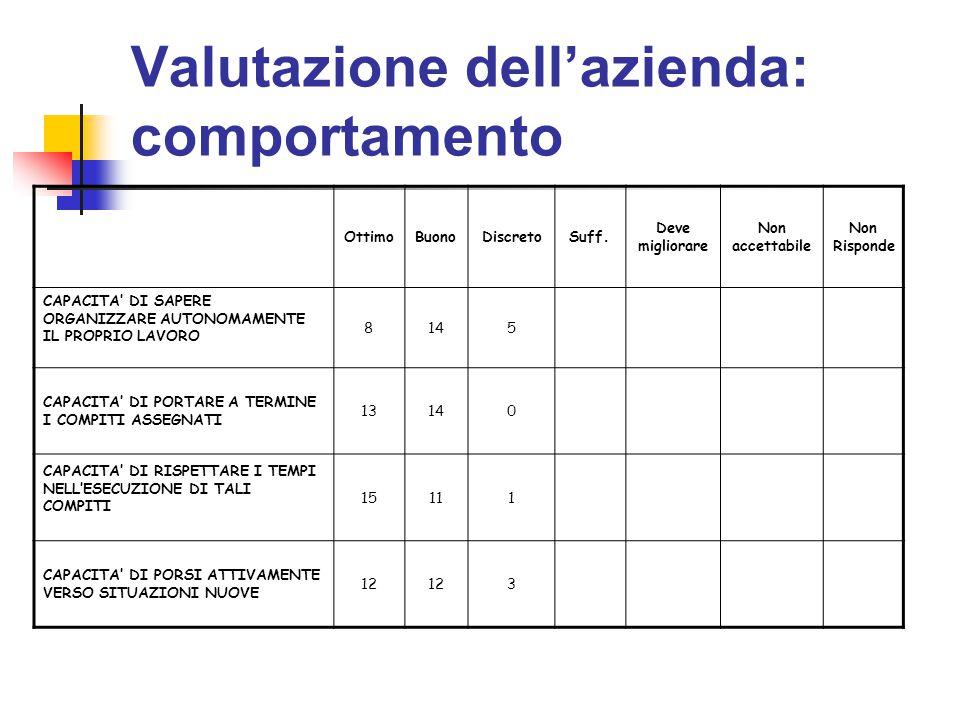 Valutazione dell'azienda: comportamento