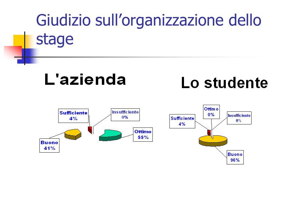 Giudizio sull'organizzazione dello stage
