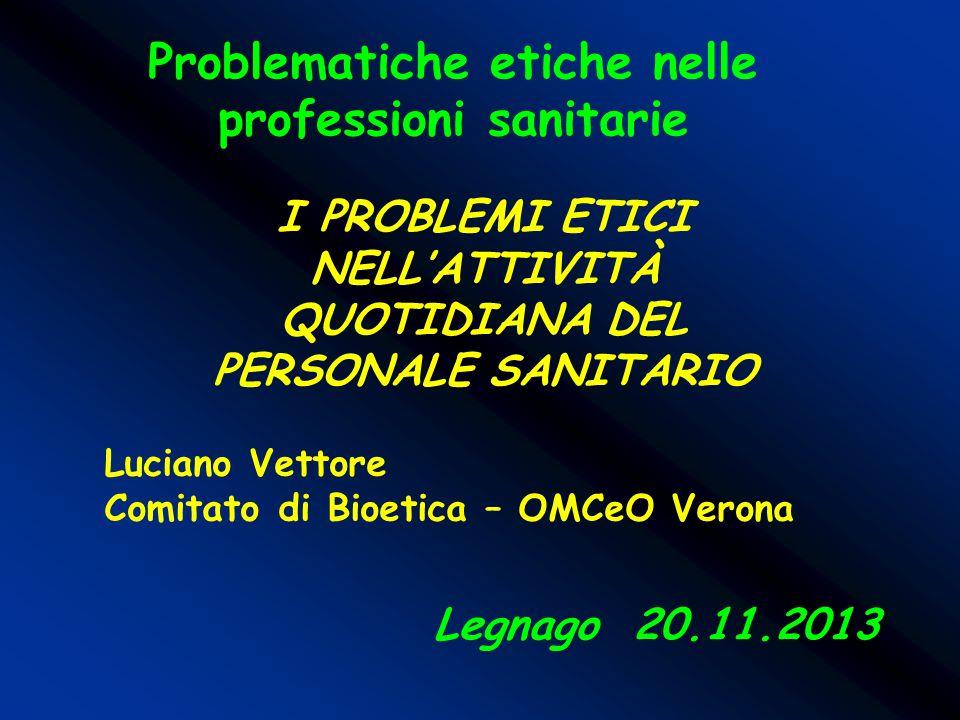 Problematiche etiche nelle professioni sanitarie