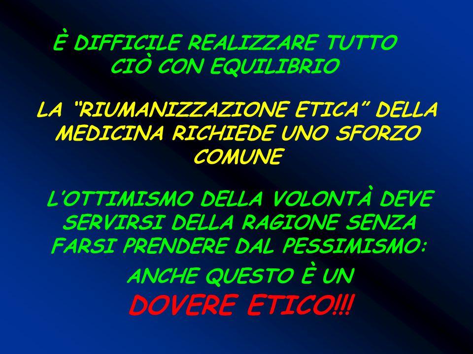 DOVERE ETICO!!! È DIFFICILE REALIZZARE TUTTO CIÒ CON EQUILIBRIO