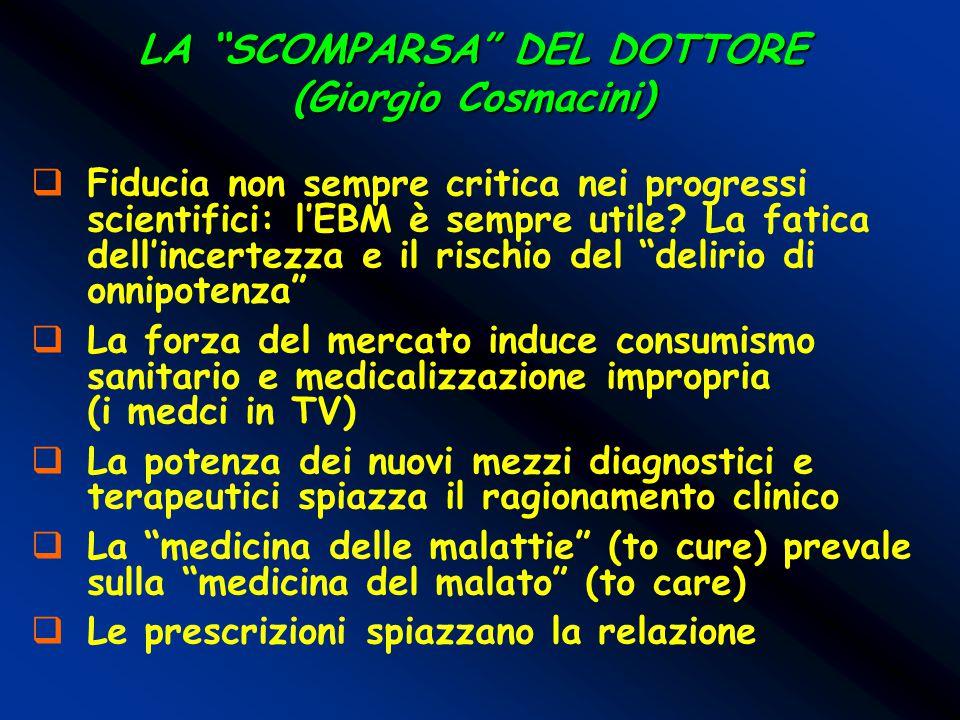 LA SCOMPARSA DEL DOTTORE (Giorgio Cosmacini)