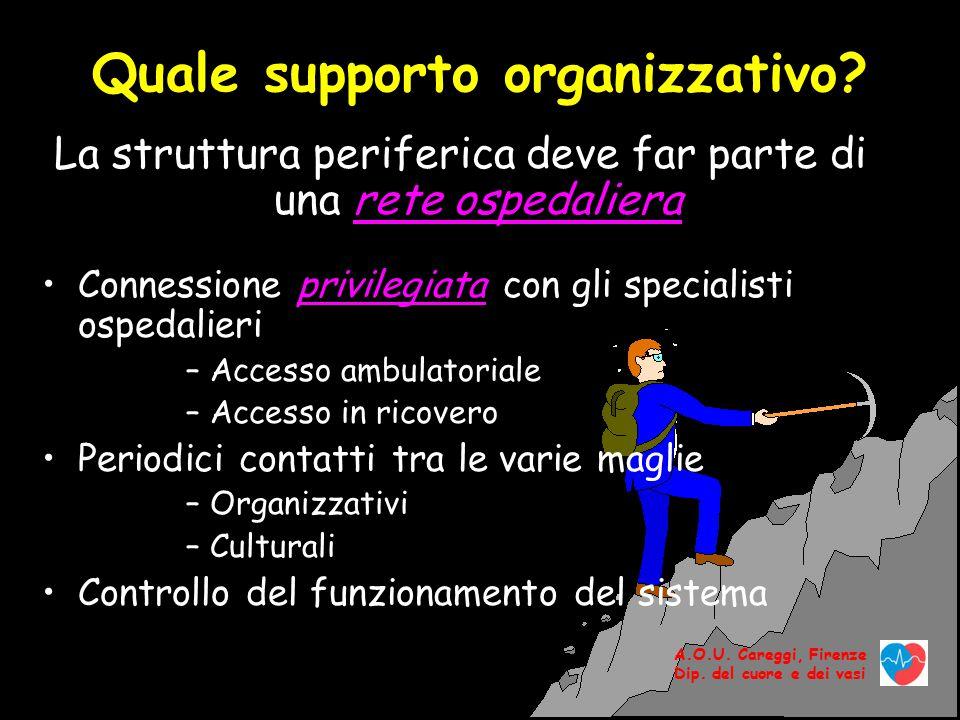 Quale supporto organizzativo