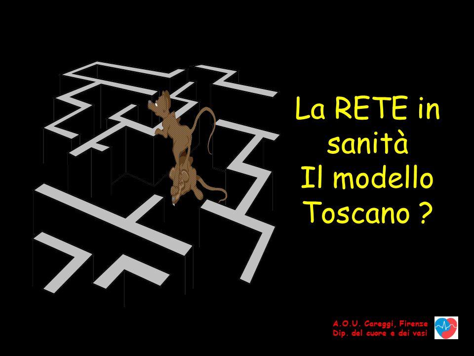 La RETE in sanità Il modello Toscano