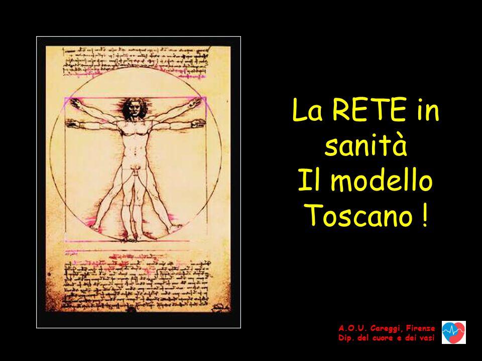 La RETE in sanità Il modello Toscano !