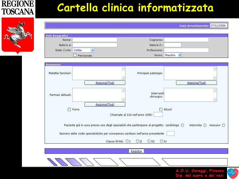 Cartella clinica informatizzata