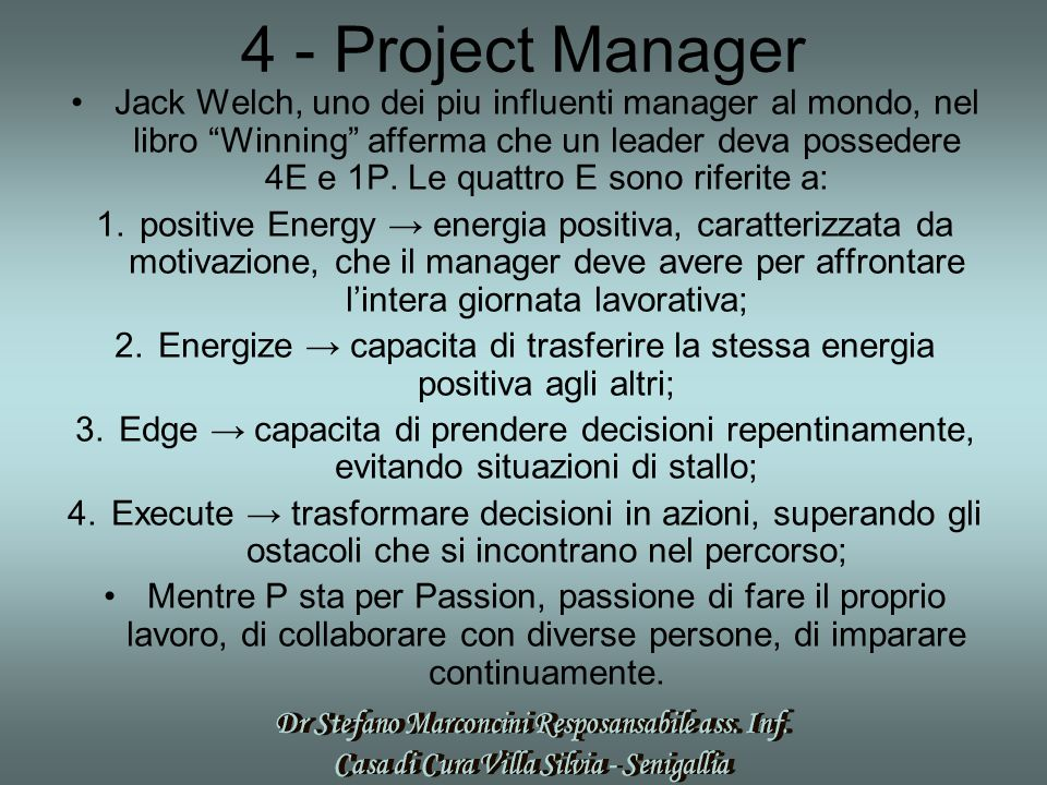 4 - Project Manager
