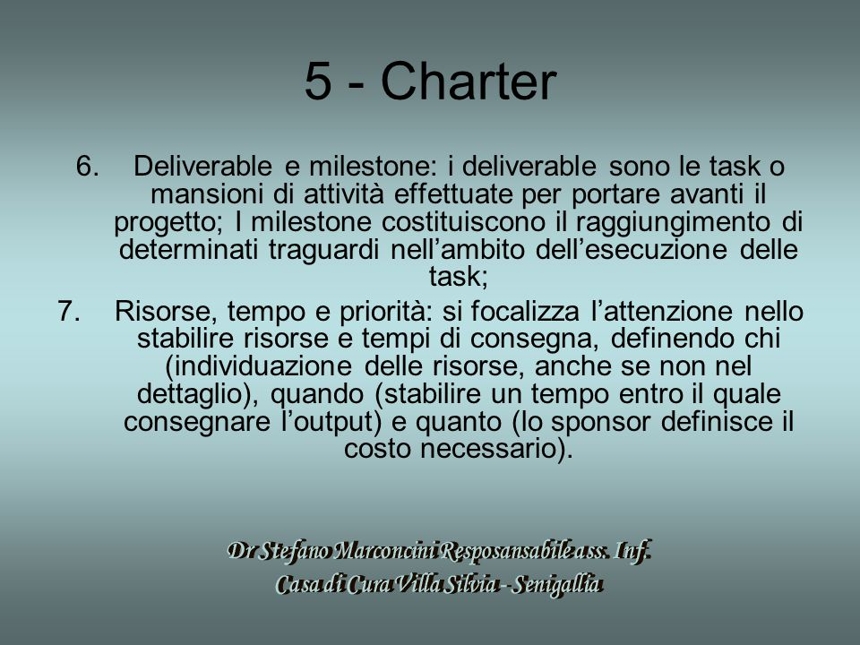 5 - Charter