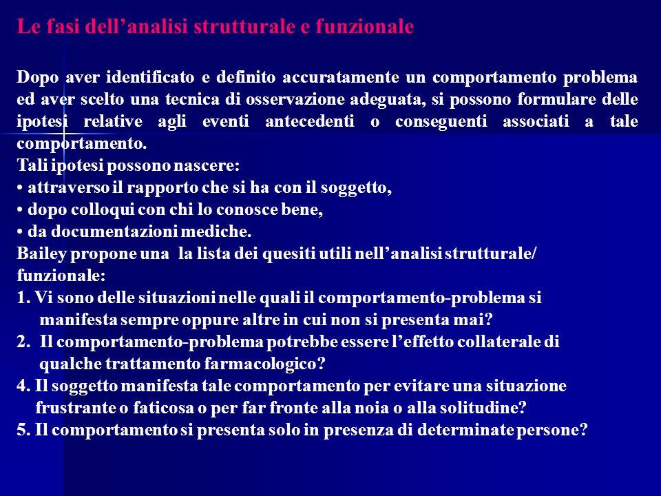 Le fasi dell'analisi strutturale e funzionale