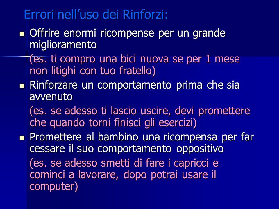 Errori nell'uso dei Rinforzi: