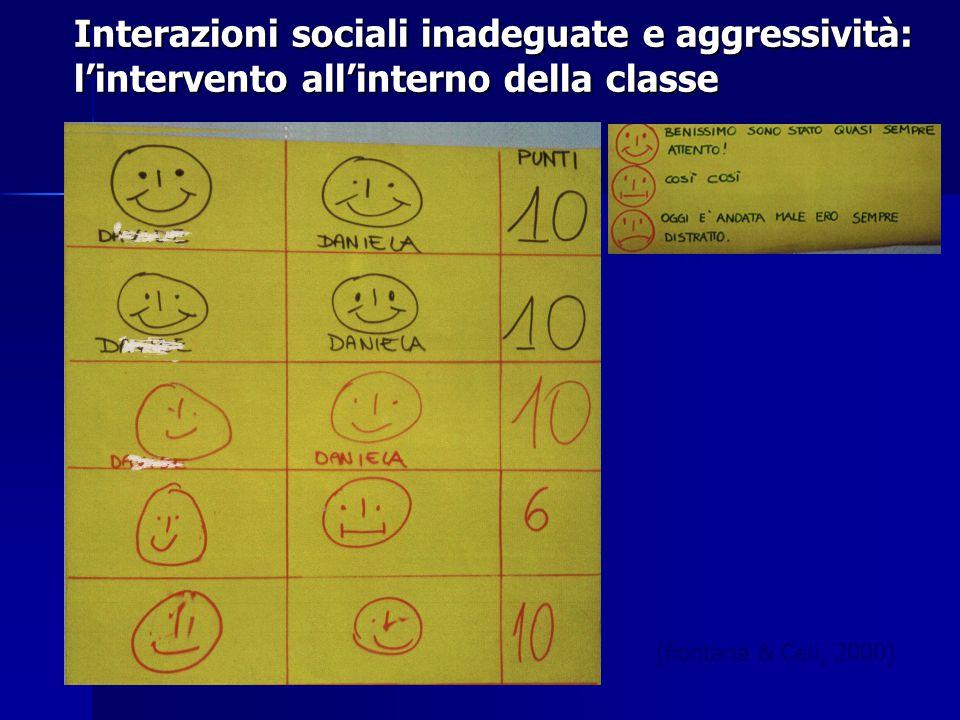 Interazioni sociali inadeguate e aggressività: l'intervento all'interno della classe