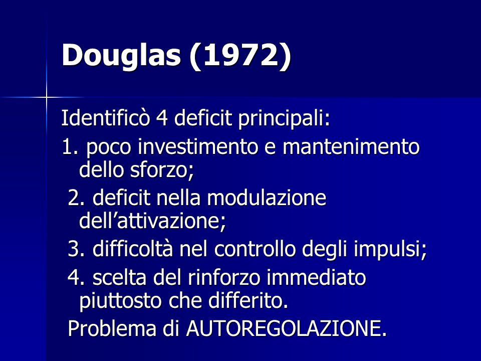Douglas (1972) Identificò 4 deficit principali: