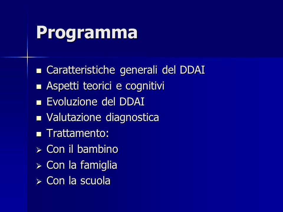 Programma Caratteristiche generali del DDAI