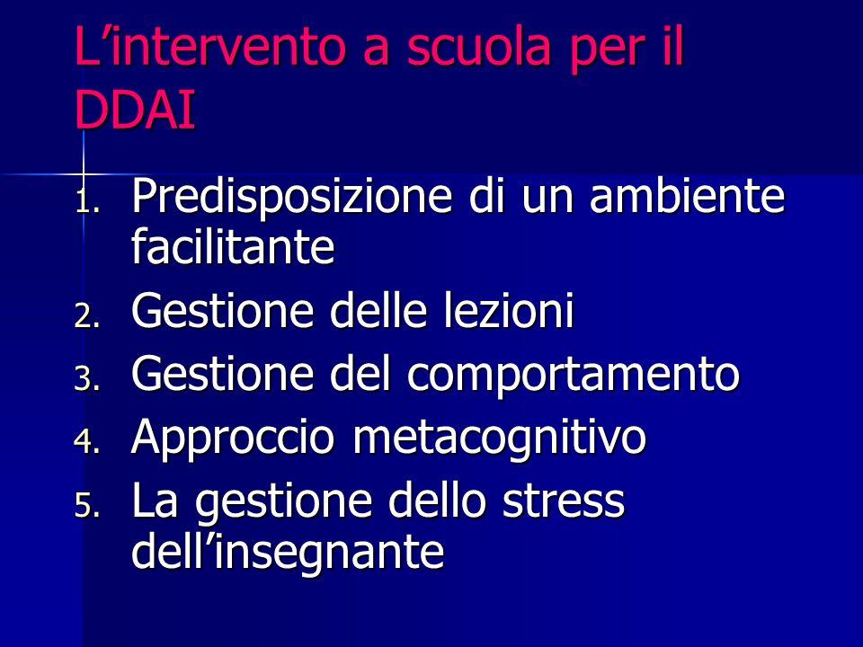 L'intervento a scuola per il DDAI