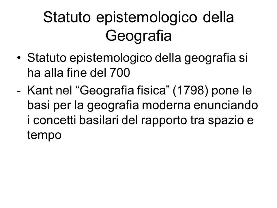 Statuto epistemologico della Geografia