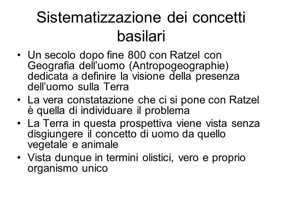 Sistematizzazione dei concetti basilari