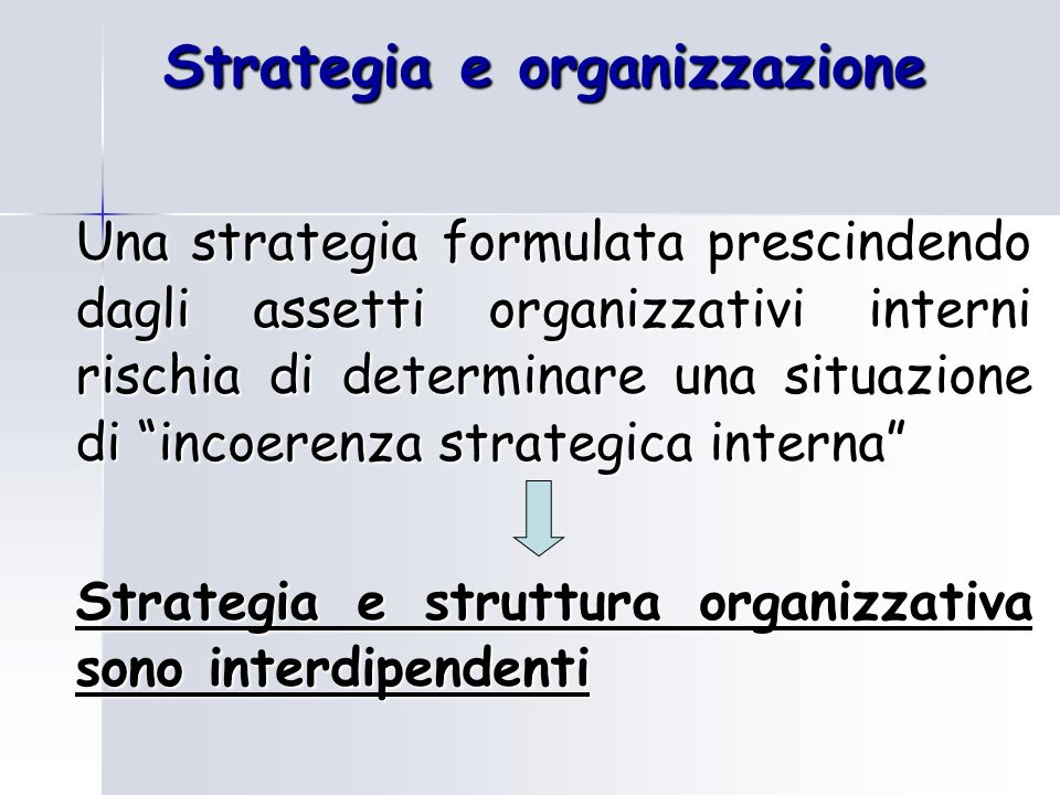 Strategia e organizzazione