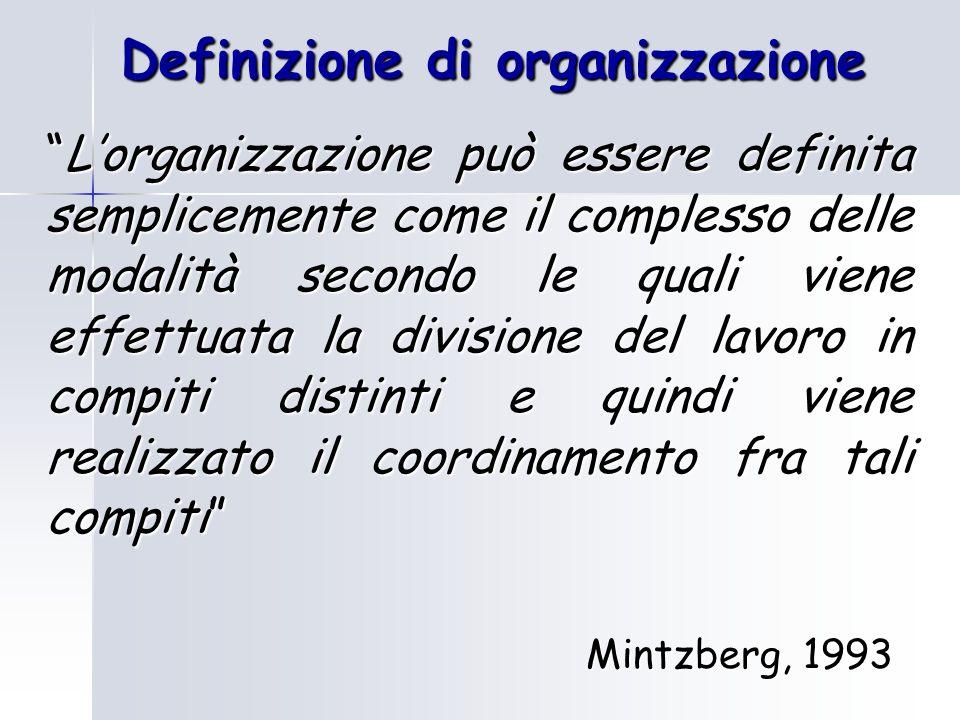 Definizione di organizzazione