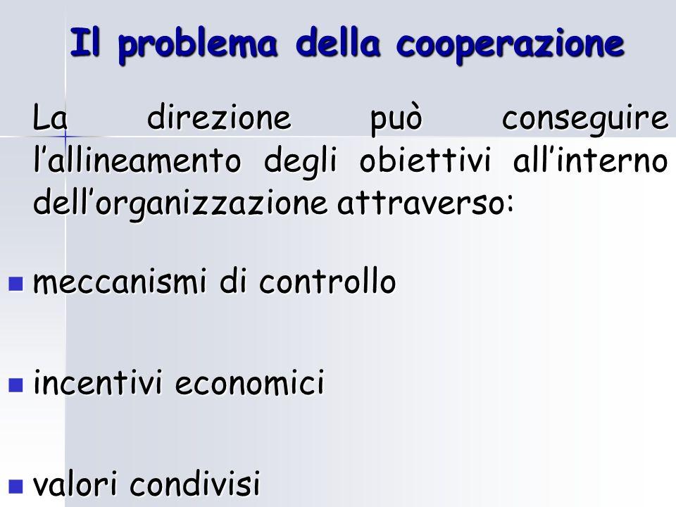 Il problema della cooperazione