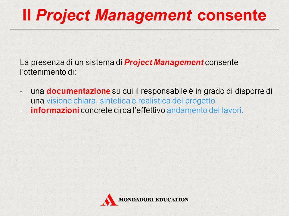 Il Project Management consente