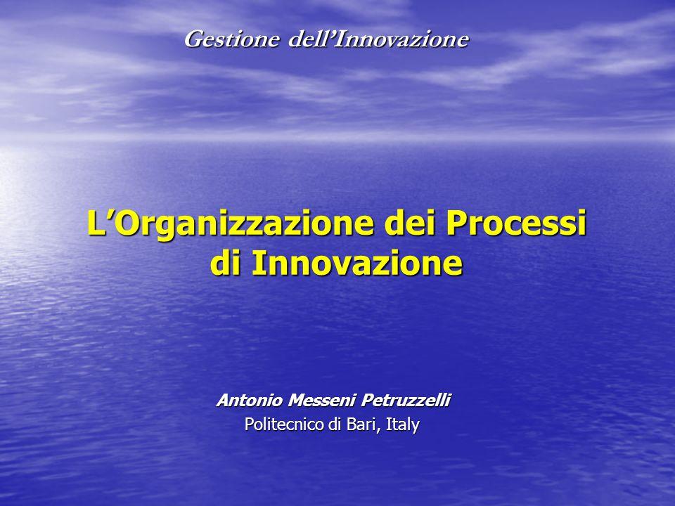 L'Organizzazione dei Processi di Innovazione