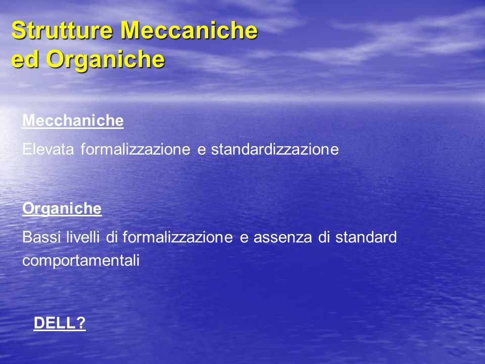 Strutture Meccaniche ed Organiche