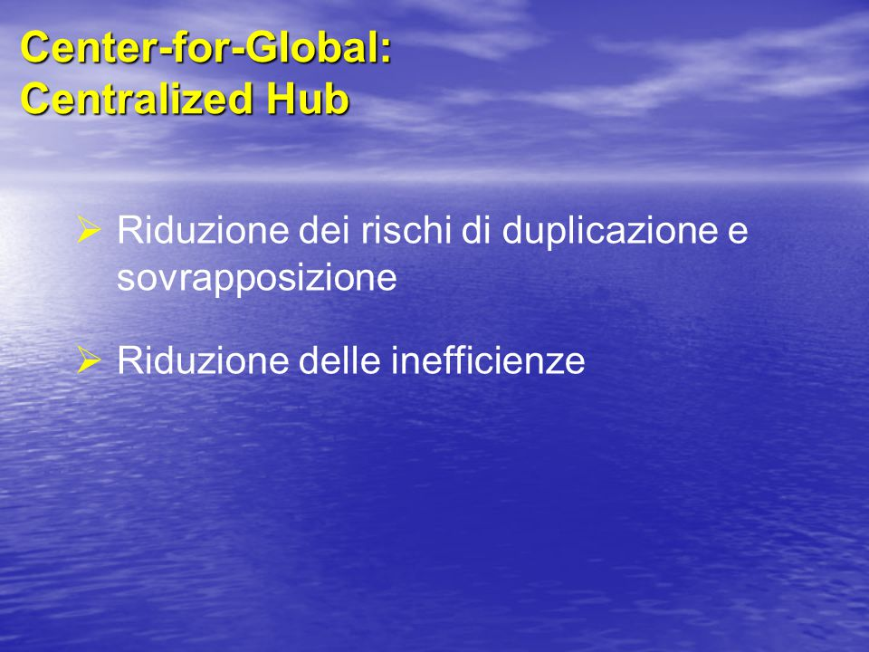 Center-for-Global: Centralized Hub