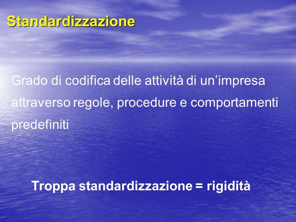 Troppa standardizzazione = rigidità