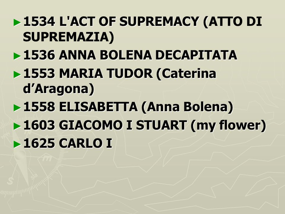 1534 L ACT OF SUPREMACY (ATTO DI SUPREMAZIA)