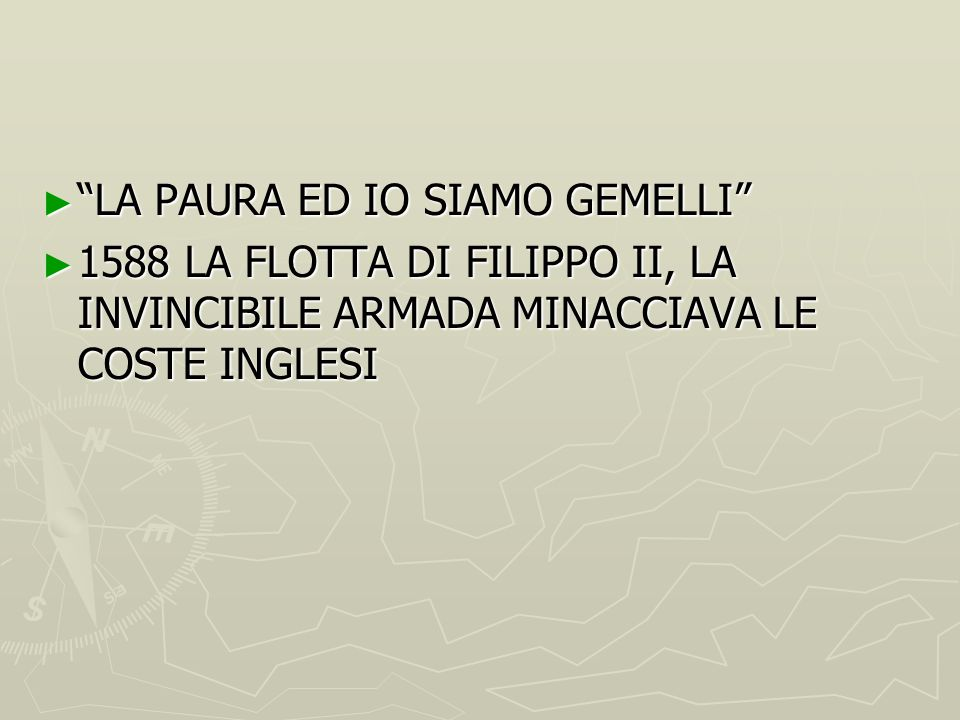 LA PAURA ED IO SIAMO GEMELLI