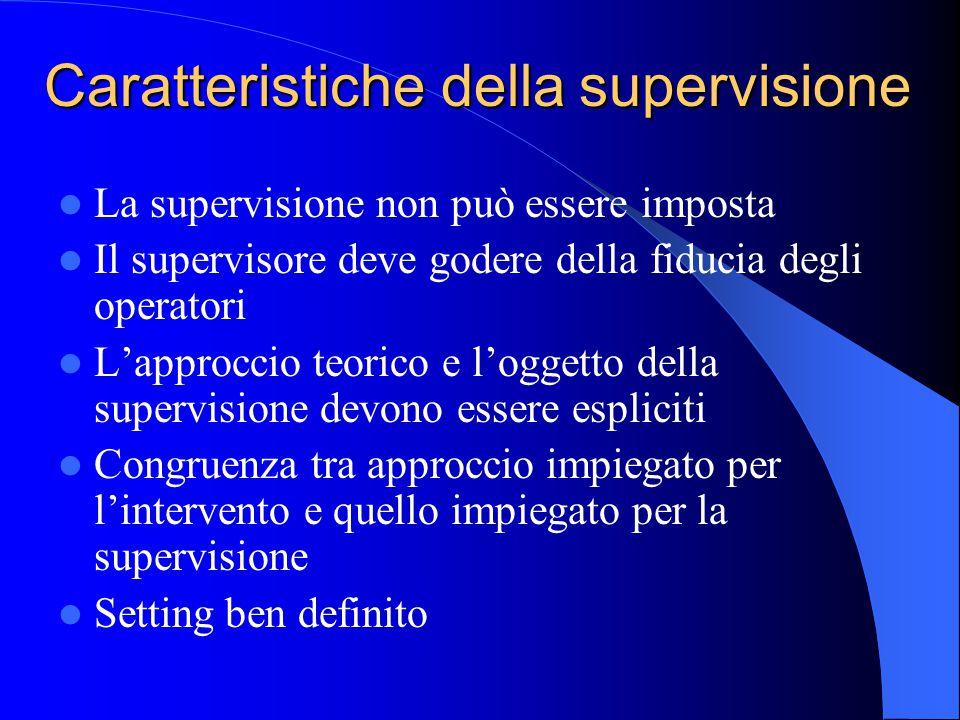 Caratteristiche della supervisione