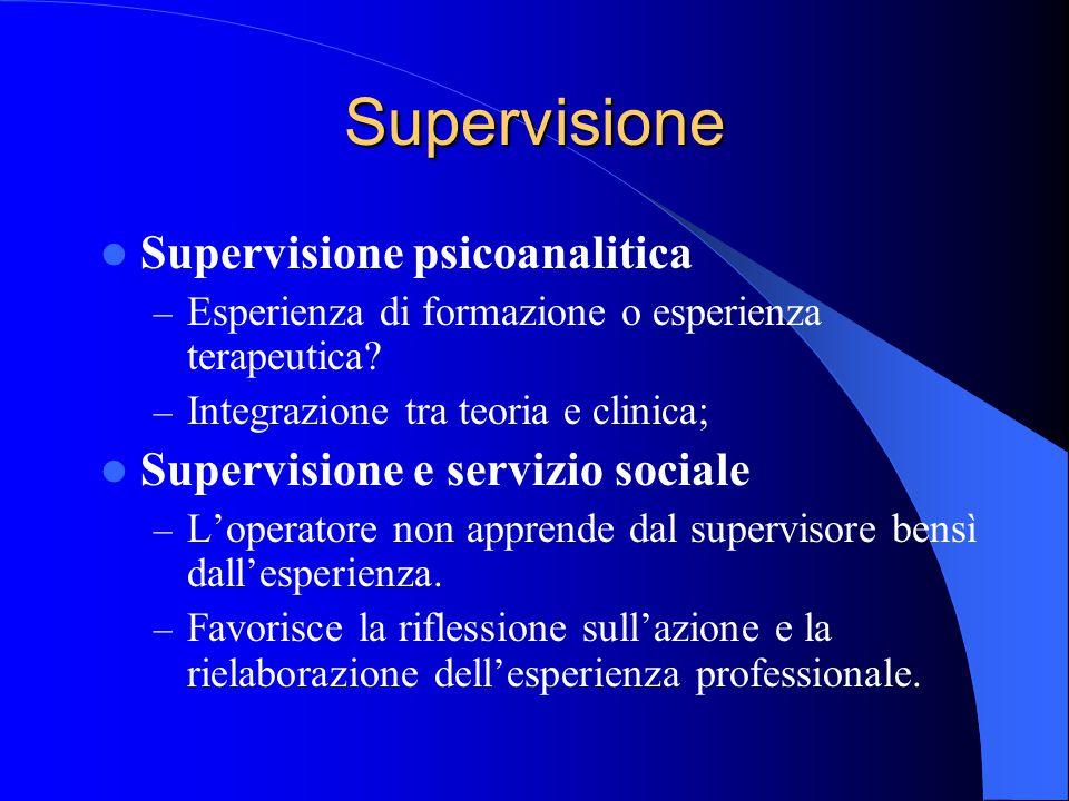 Supervisione Supervisione psicoanalitica