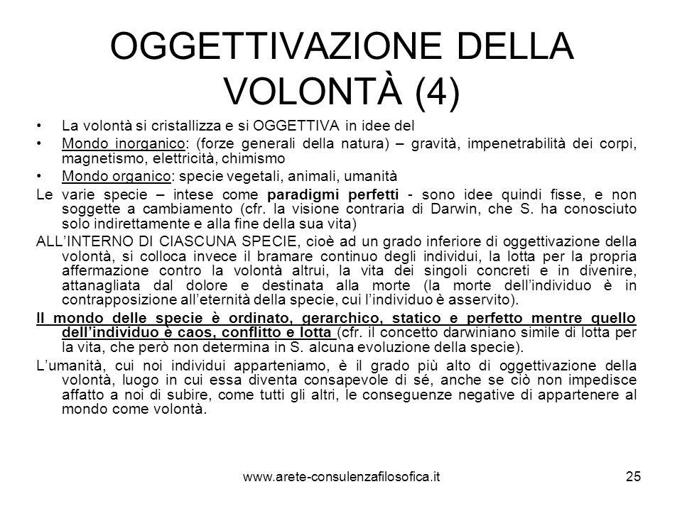 OGGETTIVAZIONE DELLA VOLONTÀ (4)