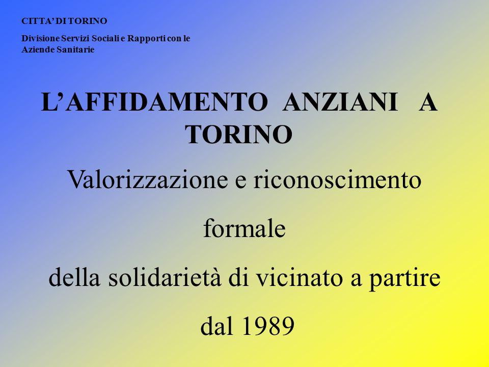 L'AFFIDAMENTO ANZIANI A TORINO