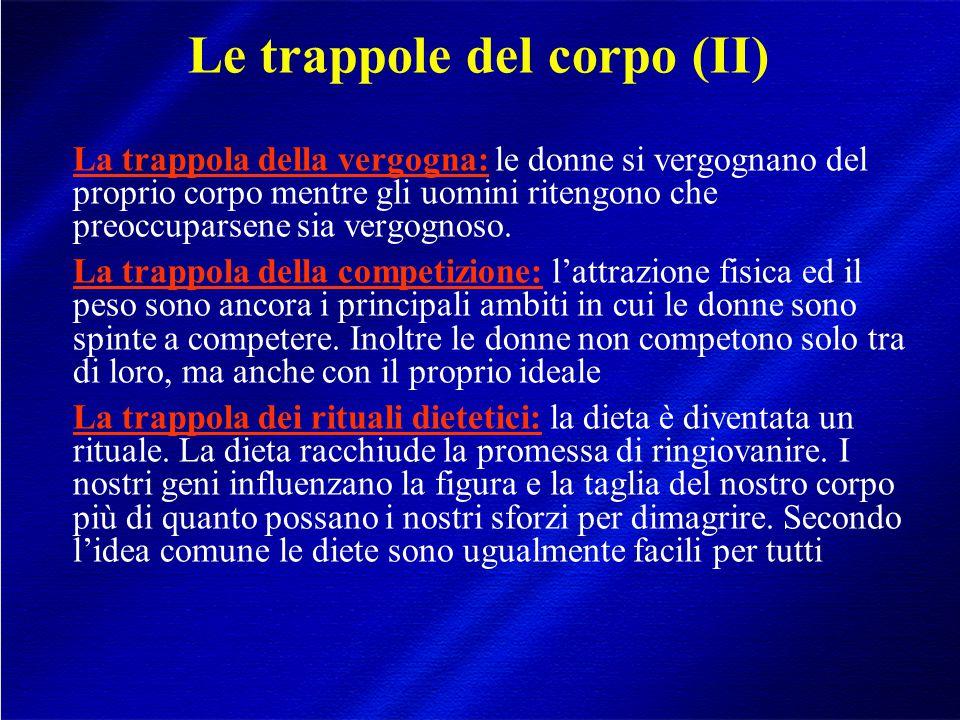 Le trappole del corpo (II)