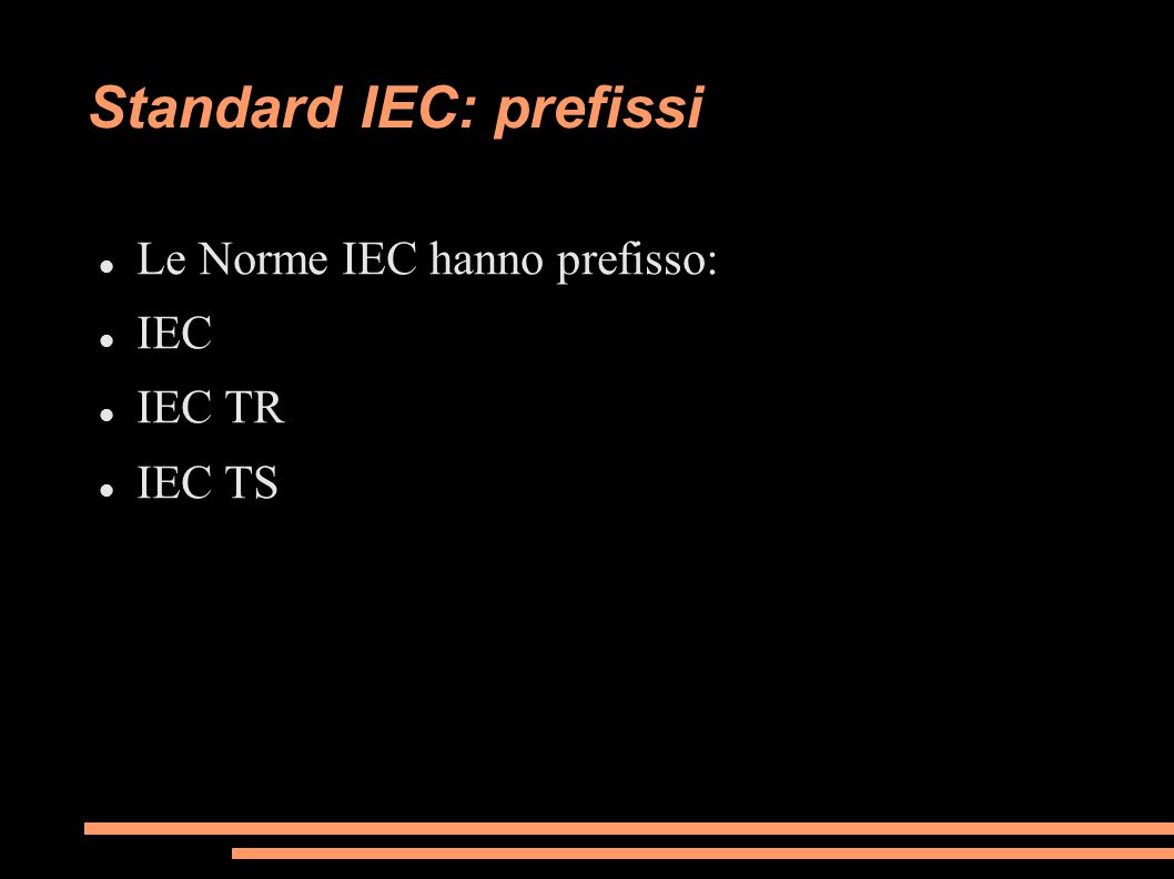 Standard IEC: prefissi