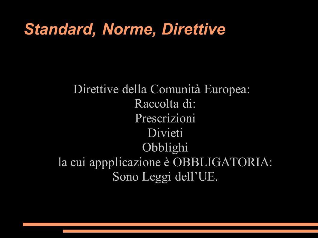 Standard, Norme, Direttive