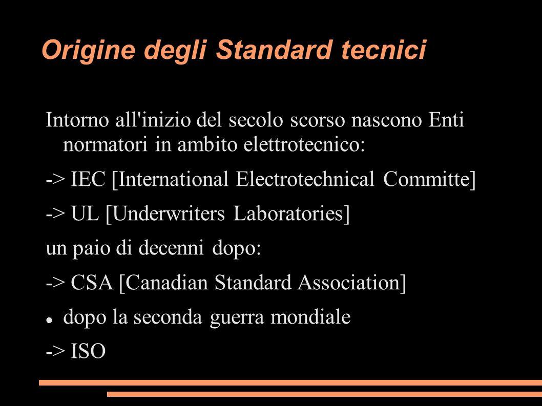 Origine degli Standard tecnici
